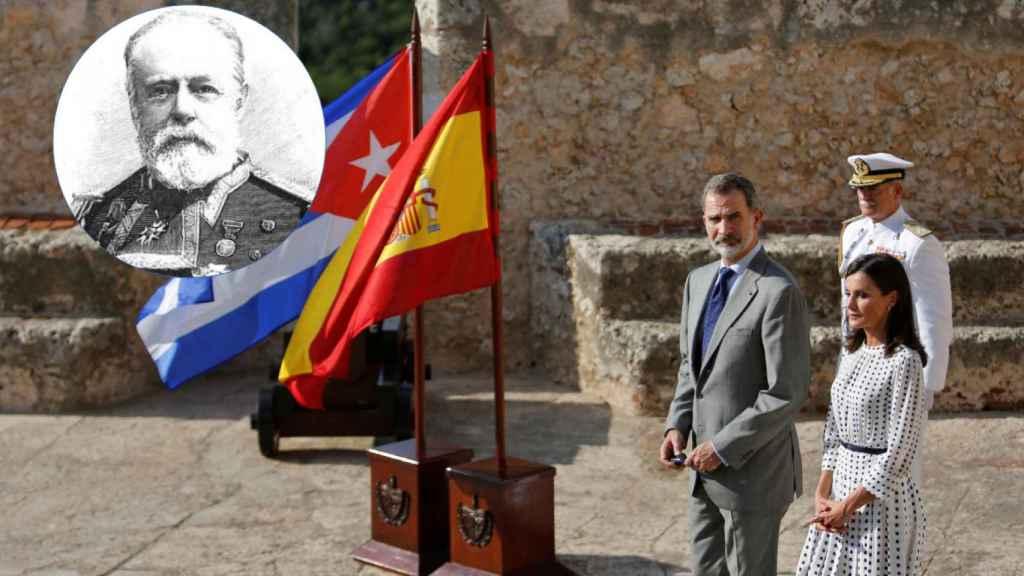 Los Reyes Felipe VI y Letizia, en los actos de homenaje a los héroes de Cuba.