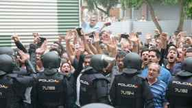 Intervención policial el 1-O./