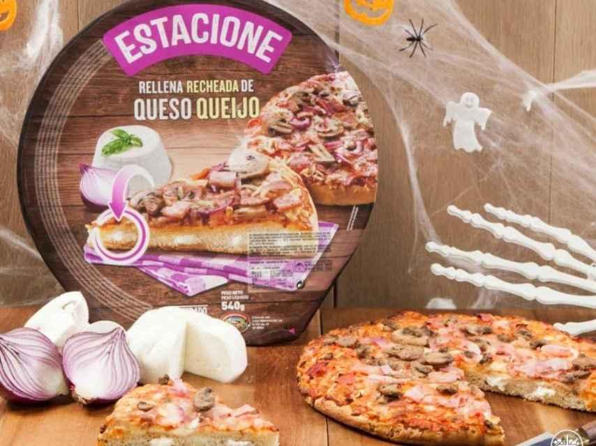 Pizza Hacendado de Mercadona.