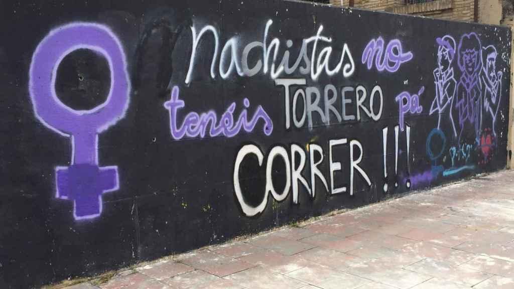 Pintada en el barrio de Torrero, Zaragoza.