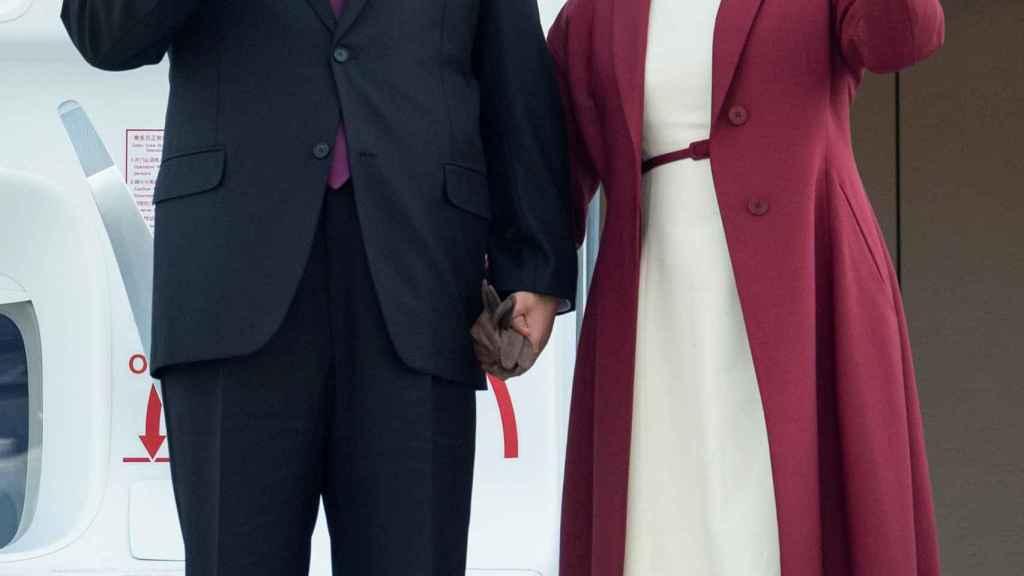 El presidente Xi Jinping junto a su mujer Peng Liyuan en una visita de Estado.