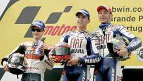 Rossi, Lorenzo y Pedrosa.