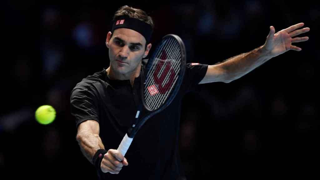 Roger Federer en las ATP Finals en Londres
