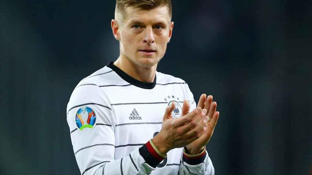 Toni Kroos, en un partido de la selección de Alemania