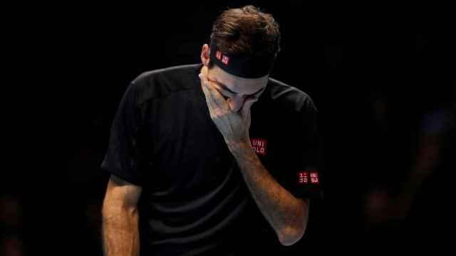 Roger Federer, en las ATP Finals 2019