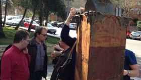Estatua de La Pasionaria en Rivas.