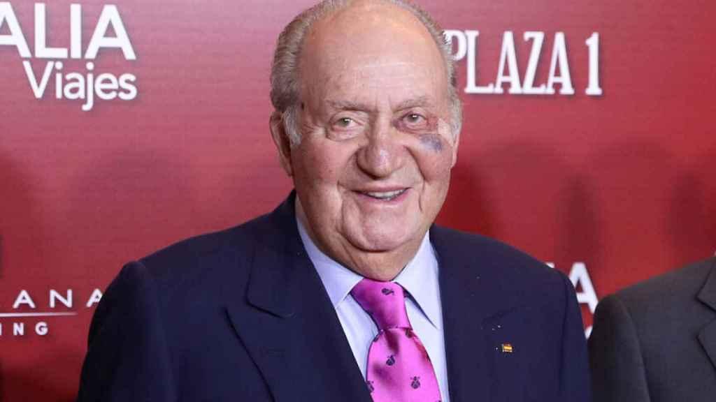 Juan Carlos durante su visita a la presentación de los carteles de San Isidro 2019.