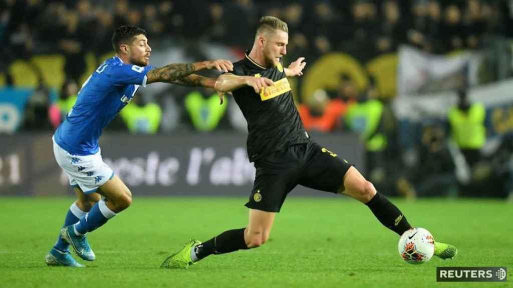 Skriniar, en plena acción con el Inter de Milán