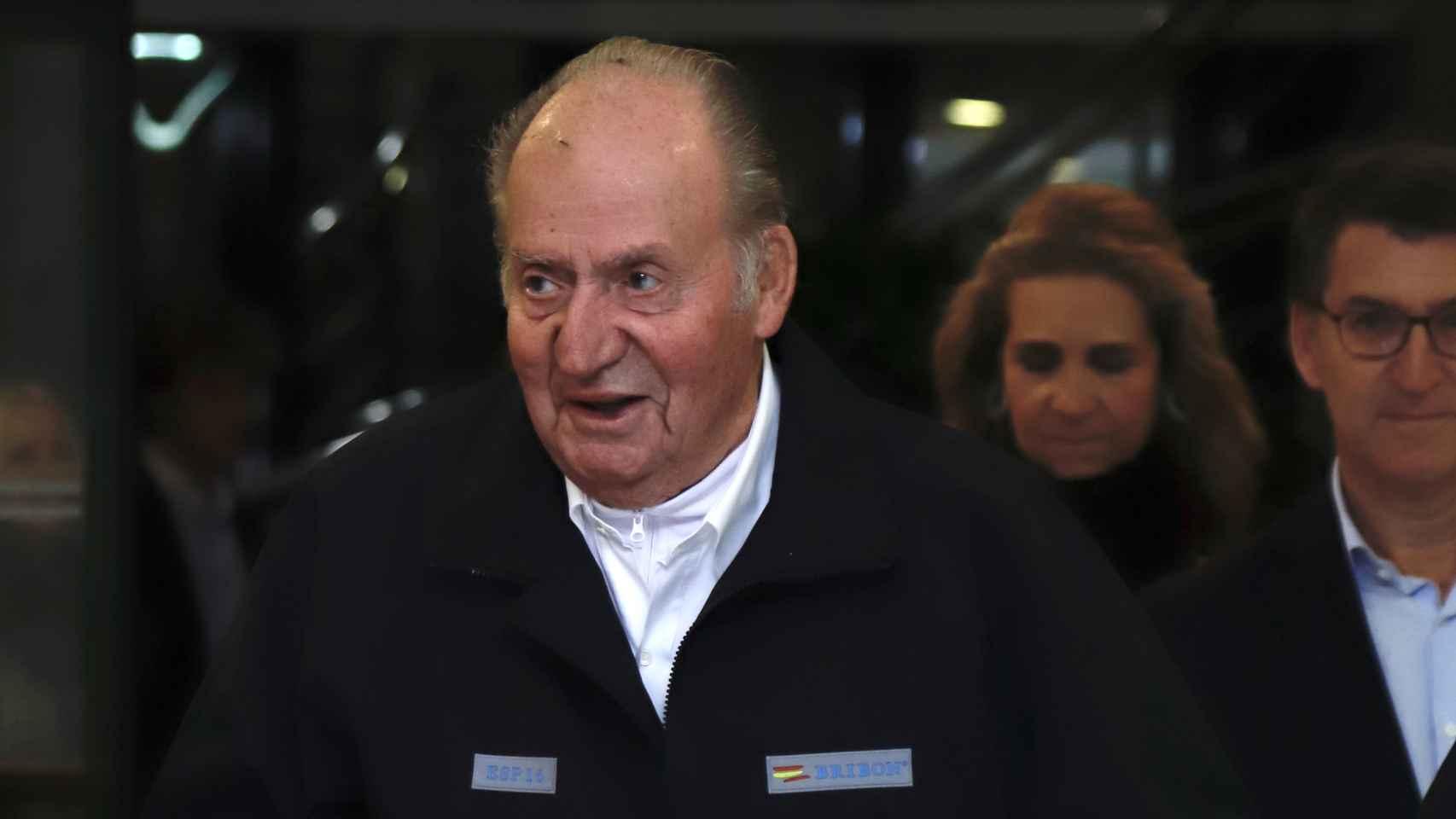 Juan Carlos durante su visita a Sanxenxo este fin de semana.