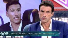 Gianmarco y Hugo Sierra en el plató de 'Sábado Deluxe'.