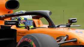 Carlos Sainz, en el GP de Brasil