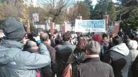 Manifestación de vecinos en el barrio madrileño de Hortaleza.