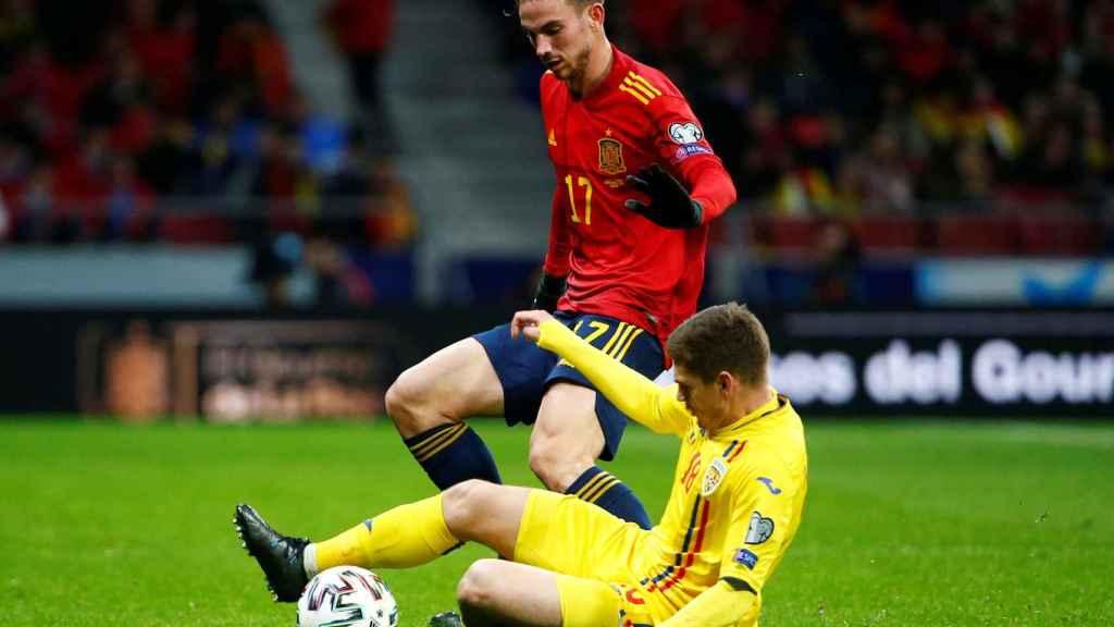Fabián Ruiz, en el partido de la selección española ante Rumanía