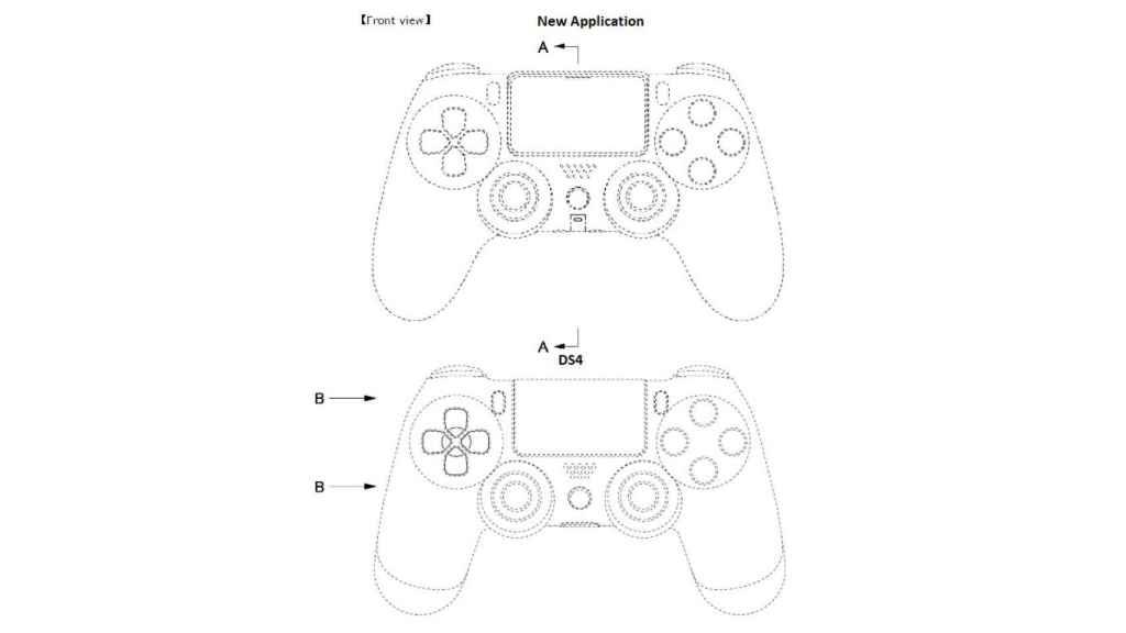 Patente comparada con el Dual Shock 4.