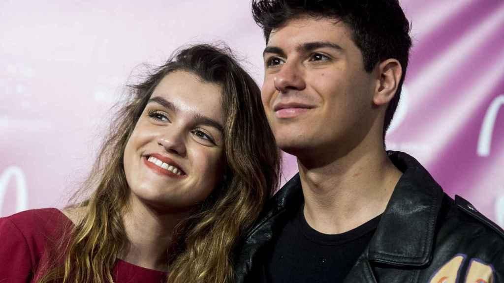 Amaia Romero y Alfred García en un evento promocional previo a Eurovisión 2018.