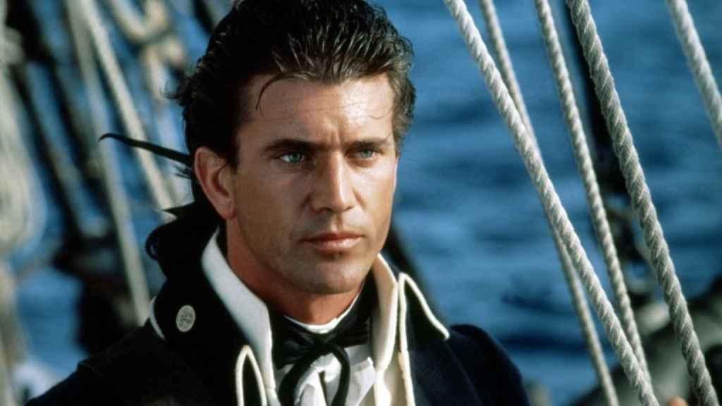 Mel Gibson en Motín a Bordo.