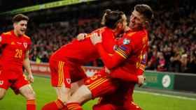 Gareth Bale, en un partido de la selección de Galess