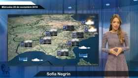 Fotograma de la predicción del tiempo para este miércoles.