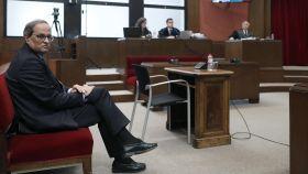 Quim Torra, presidente de la Generalitat de Cataluña, en el banquillo del TSJC.