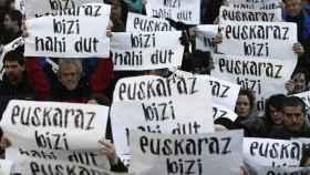 Manifestación para reivindicar el derecho a poder vivir en euskera (euskaraz bizi nahi dut).