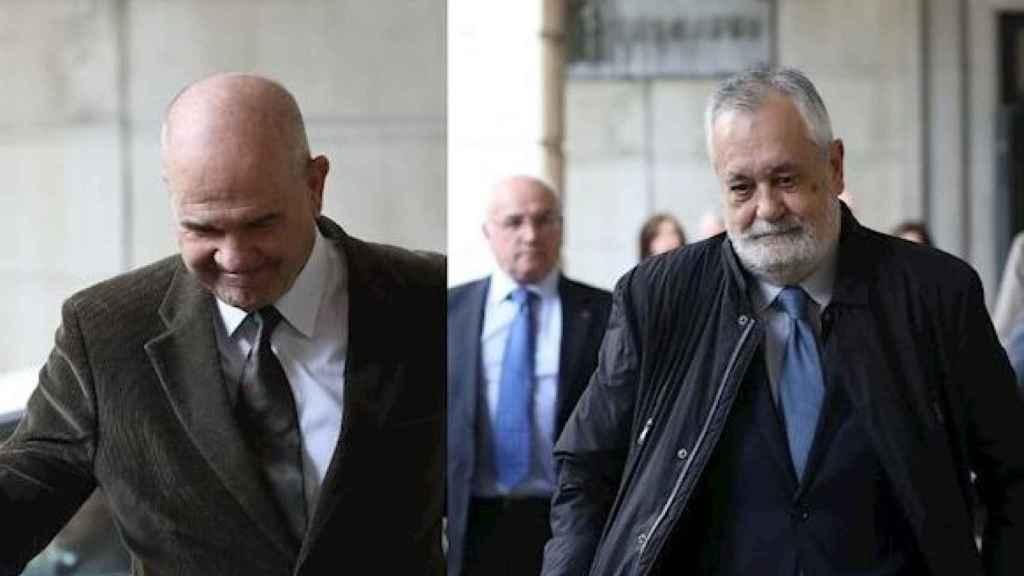 Chaves (izqda.) y Griñán, este martes tras conocer la sentencia de los ERE./