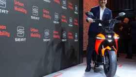 El presidente de Seat, Luca de Meo, este martes durante su presentación en el Smart City Expo World Congress.