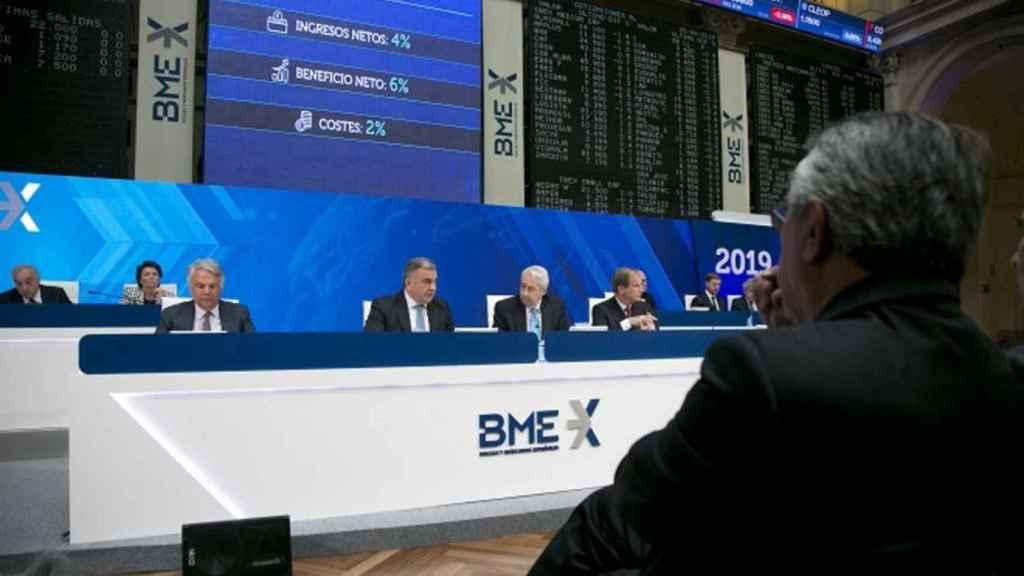 Presidencia de la junta de accionistas de BME del año 2009.