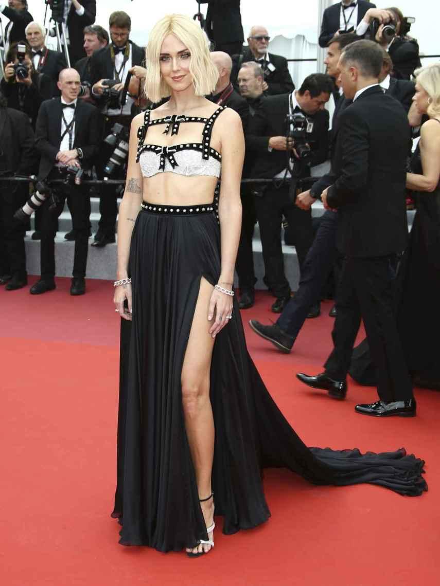 La influencer en la alfombra roja de Cannes.