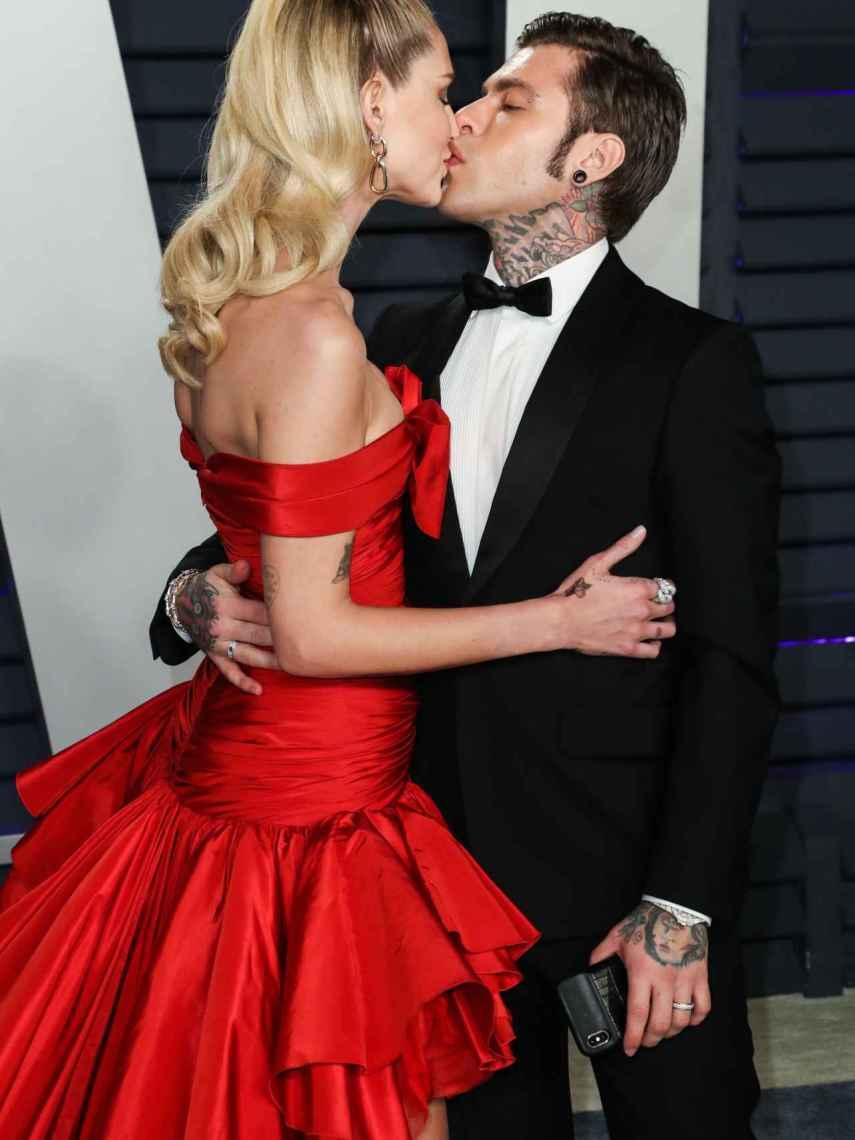 Junto a su marido el rapero Fedez.