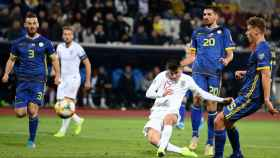 La selección de Kosovo, en un partido frente a Inglaterra