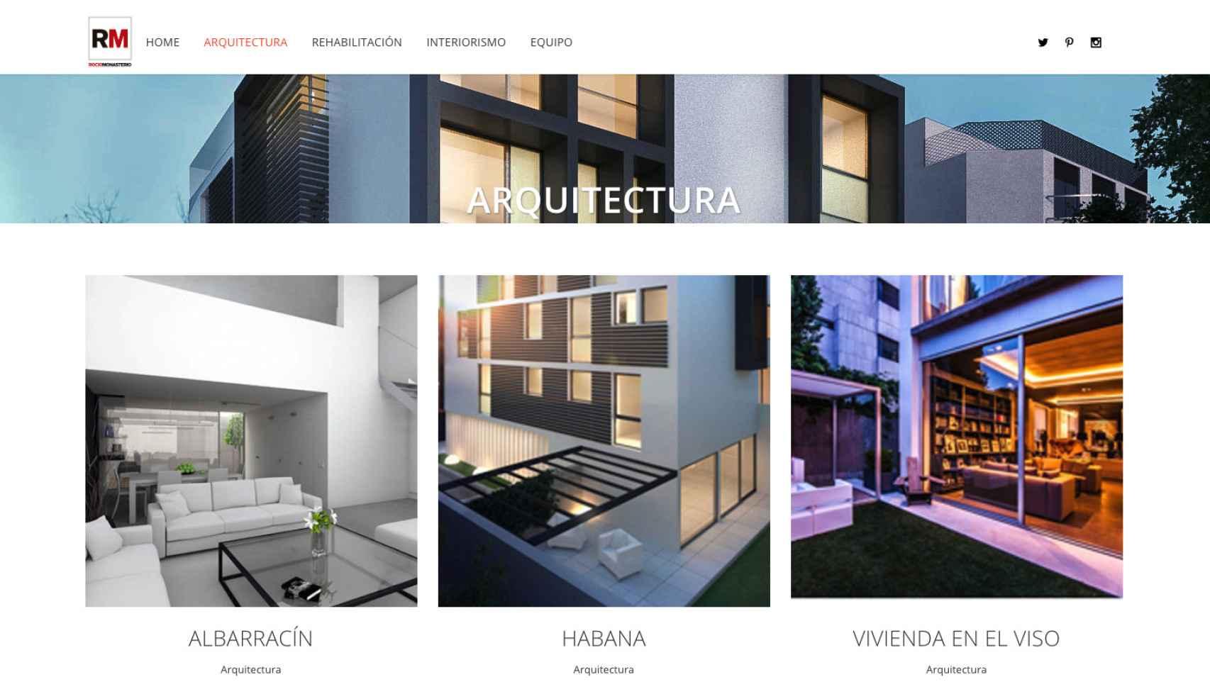Proyectos de arquitectura de la web de Rocío Monasterio que han sido eliminados de su web.