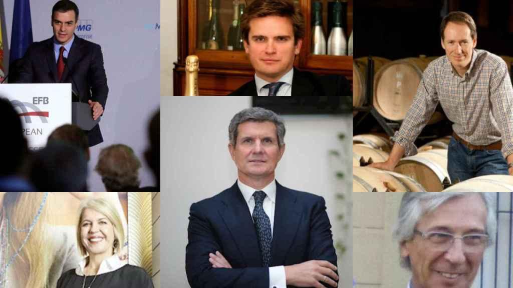Pedro Sánchez, Ramón Raventós, Miguel Torres, Alba Tous, Francisco Riberas y Javier Roca Hernández.