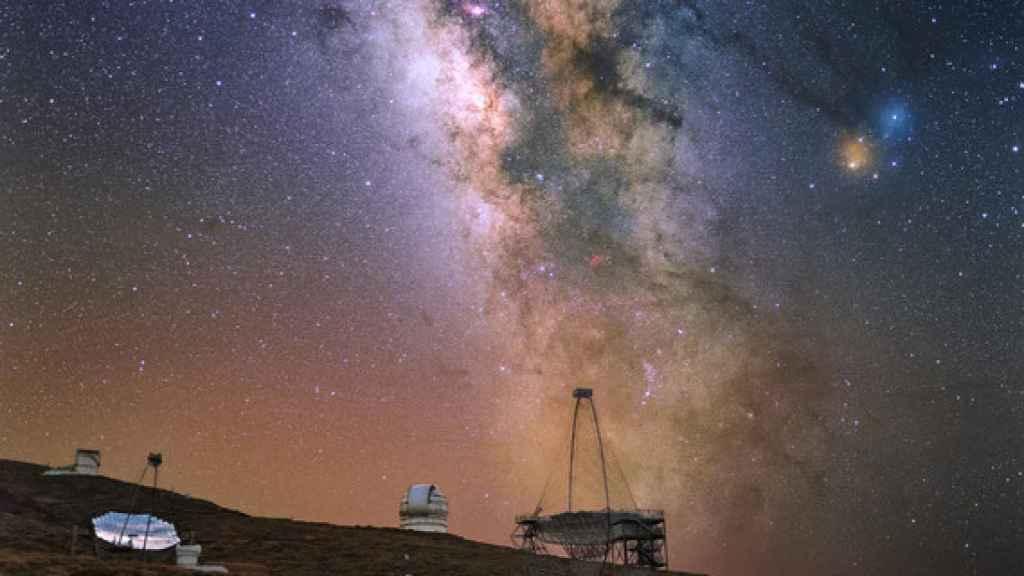 Telescopios MAGIC en La Palma.
