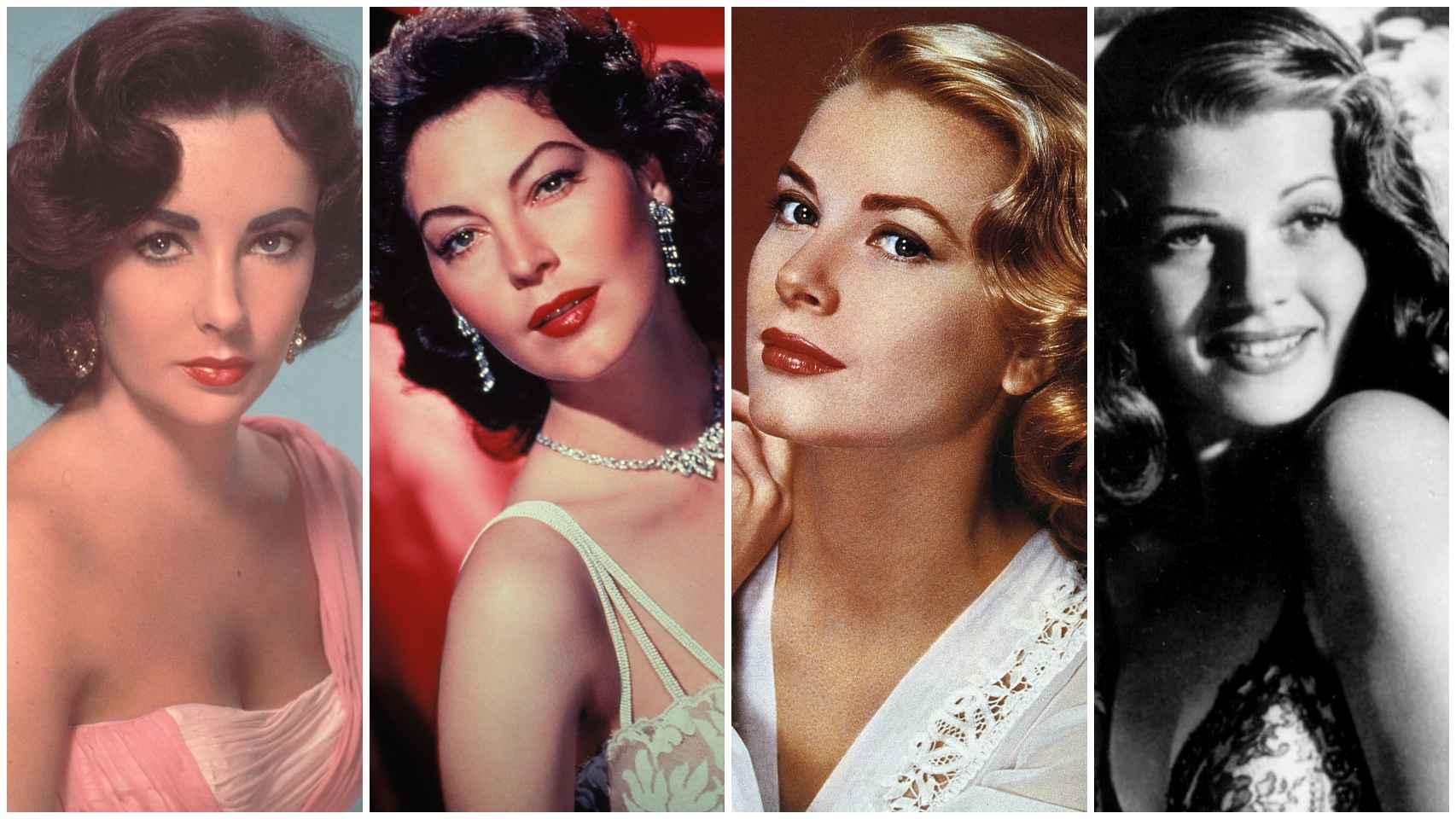 Montaje con algunas de las divas de Hollywood.