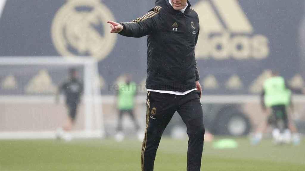 Zidane en Valdebebas.