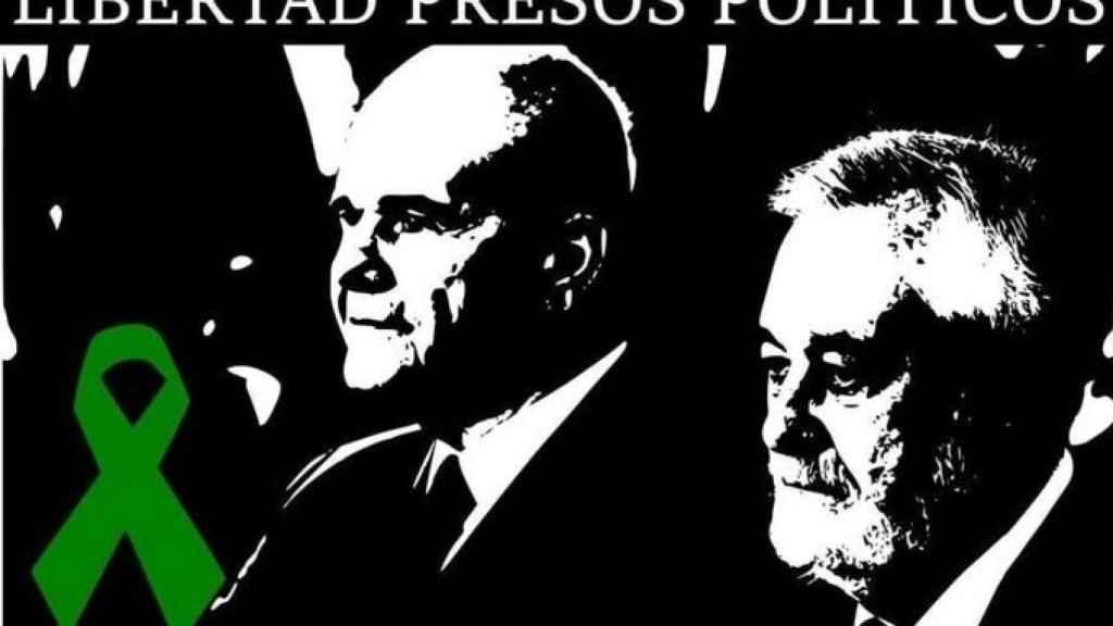 Uno de los memes para 'pedir la libertad' de Chaves y Griñán