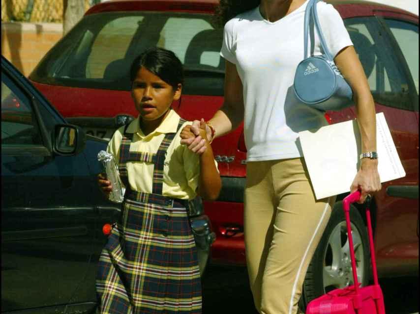 Isabel Pantoja y Julián Muñoz acudieron al colegio a pedir explicaciones.