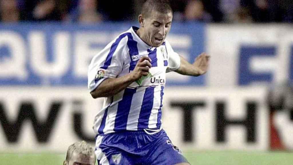 Koke Contreras, como jugador del Málaga