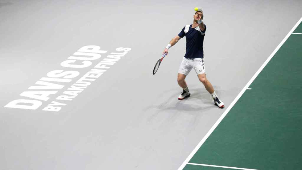 Andy Murray, durante un partido de la Copa Davis