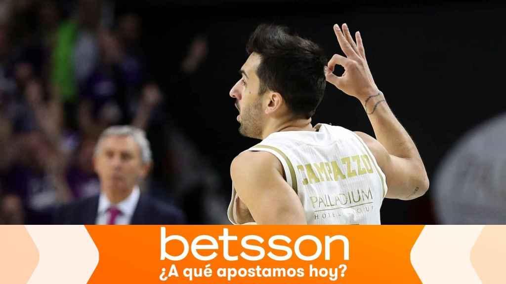 Facundo Campazzo, en un partido del Real Madrid de baloncesto en la Euroliga