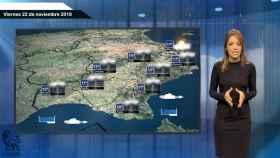Fotograma de la predicción del tiempo de El Español.