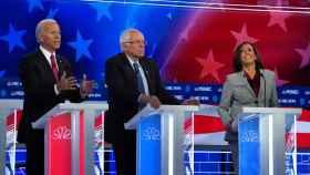 Una imagen del debate de los demócratas.