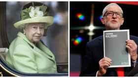 La reina Isabel II y Jeremy Corbyn