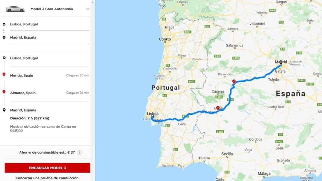 Los viajes con un Tesla rondarían las 7-8 horas, pudiendo parar solamente dos veces.