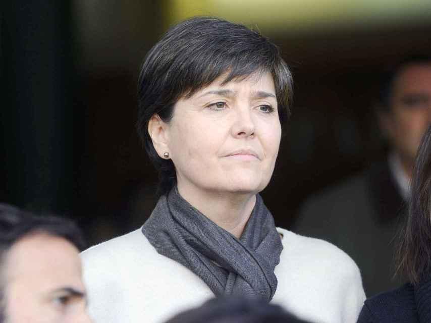Rita, el día del entierro de Emilio Aragón, 'Miliki'.