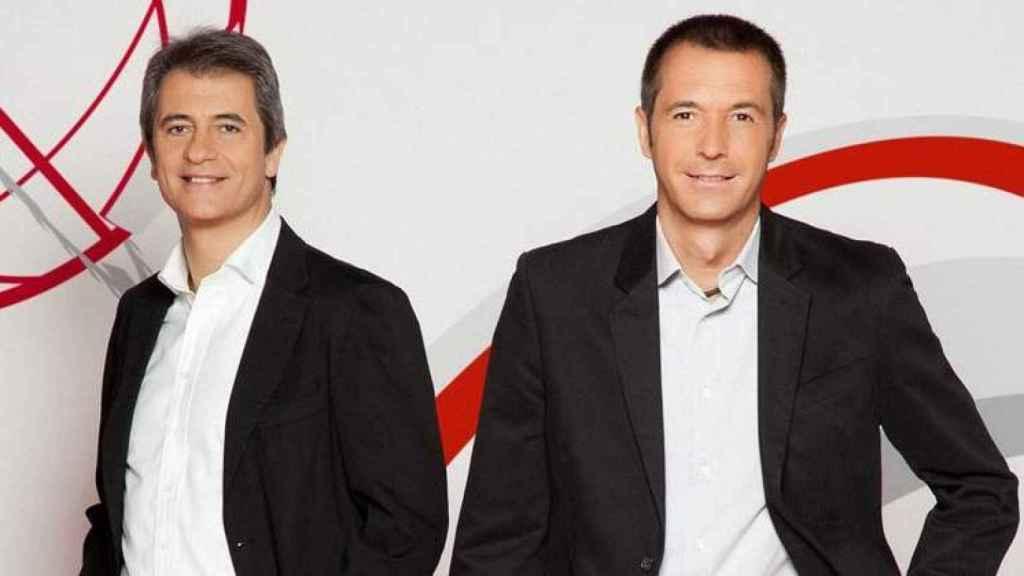 Manolo Lama y Manu Carreño, cuando presentaban 'Los Manolos' en Cuatro.