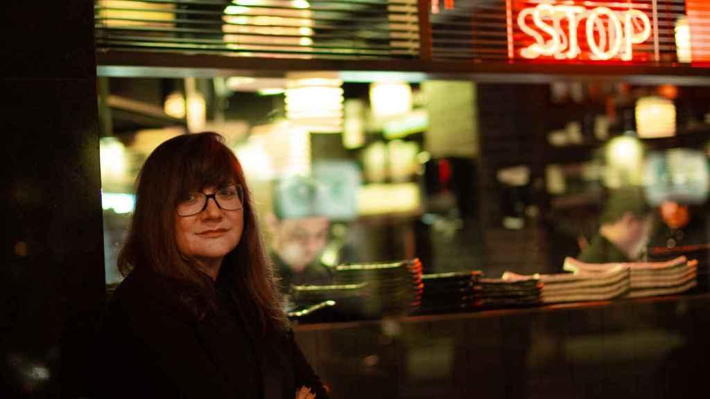 Isabel Coixet en el rodaje de Foodie Love.