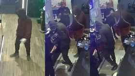 Los ladrones murcianos del cuchillo jamonero, durante uno de sus atracos.