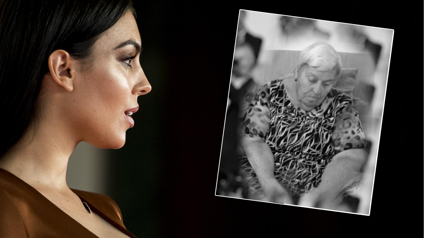 Georgina Rodríguez junto a su abuela fallecida en montaje JALEOS.