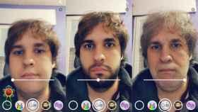 La máquina del tiempo de Snapchat: filtros de joven y viejo a la vez